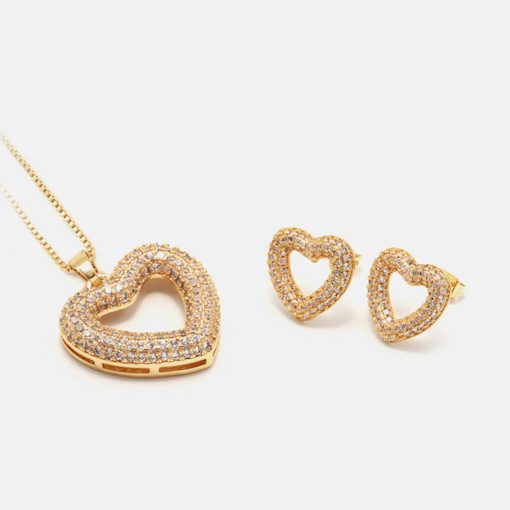 European E-Plating Earrings Engagement Jewelry Sets