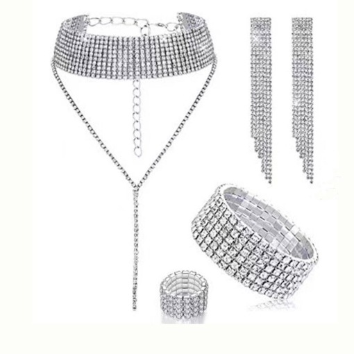 E-Plating Necklace European Prom Jewelry Sets