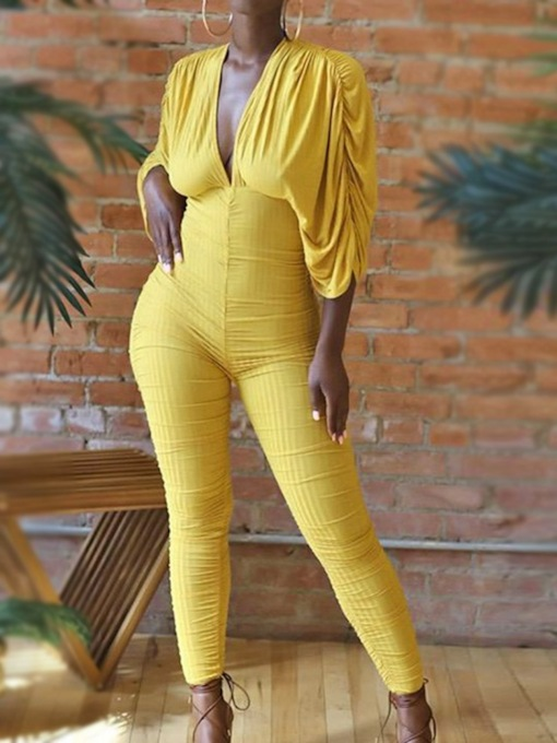 Ankle Length Sexy Plain Skinny Women's Jumpsuit