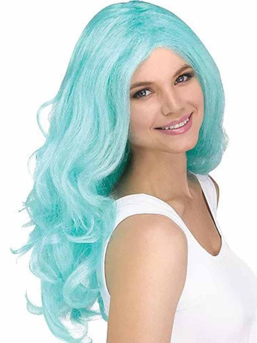 Women's Halloween Costumes Cosplay Wigs Colored Wavy Synthetic Hair Capless 24 Inches Wigs