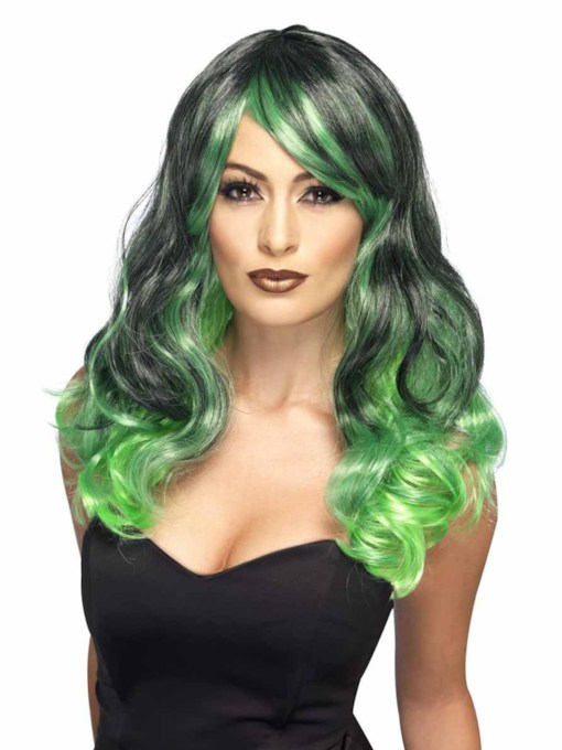 Halloween Costumes Cosplay Wigs Women's Colored Wavy Synthetic Hair Capless 20 Inches Wigs