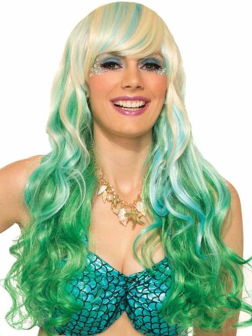 Halloween Costumes Women's Cosplay Colored Wigs Wavy Synthetic Hair Capless 26 Inches Wigs