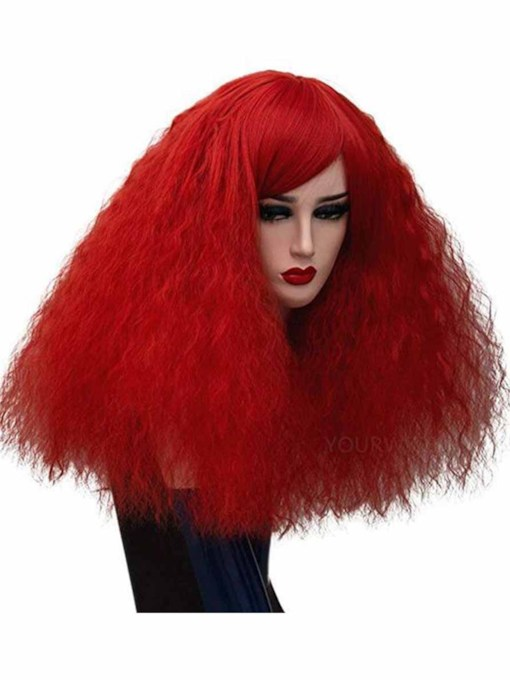 Women's Halloween Costumes Cosplay Wigs Afro Curly Synthetic Hair Capless 20 Inches Wigs