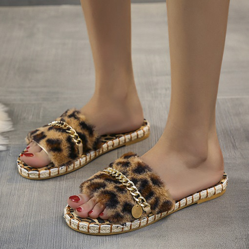 Slip-On Sequin Flat With Flip Flop Fall Slippers