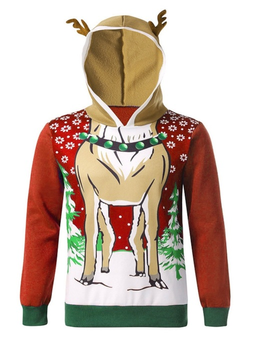 Animal Pullover Patchwork Pullover Men's Hoodies