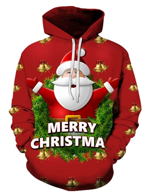 Letter Pullover Thin Print Hooded Men's Hoodies