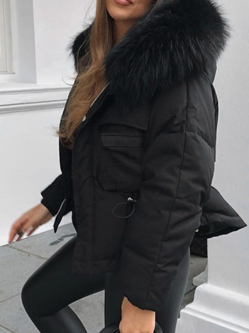 Button Thick Loose Single-Breasted Mid-Length Women's Cotton Padded Jacket
