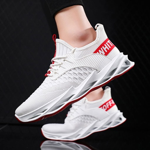 Sports Flat With Low-Cut Upper Lace-Up Round Toe Sneakers