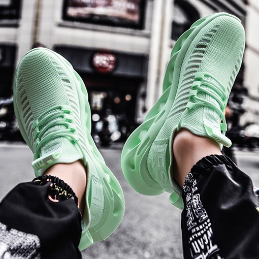 Sports Flat With Low-Cut Upper Lace-Up Mesh Sneakers