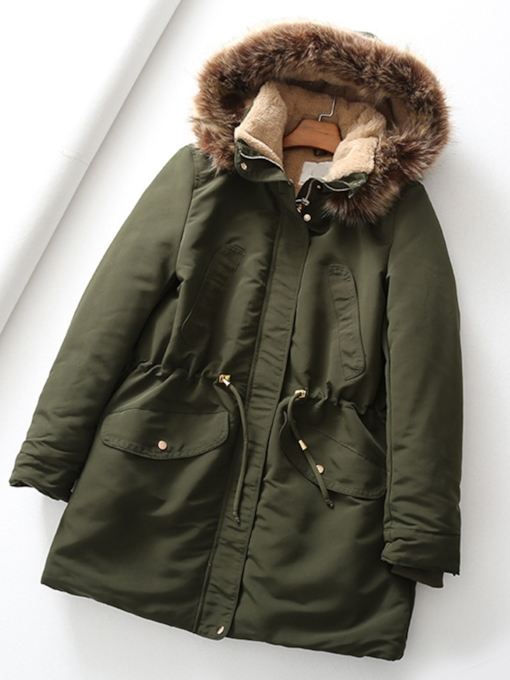 Button Loose Single-Breasted Mid-Length Women's Cotton Padded Jacket
