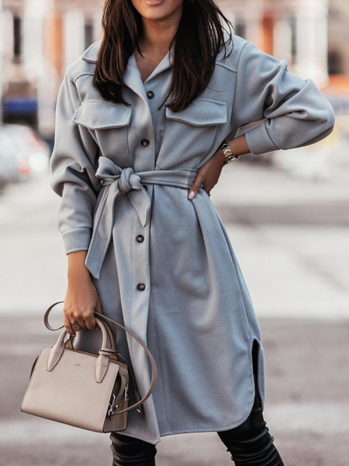 Loose Button Single-Breasted Spring Women's Overcoat