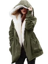 Military Winter Casual Outdoor Hoodie Trench Parkas Women's Overcoat