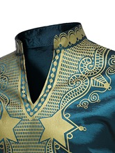 African Fashion Dashiki Stand Collar African Print Luxury Men's Shirt