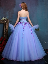 Rhinestone Sweetheart Sashes Ball Gown Appliques Quinceanera Dress