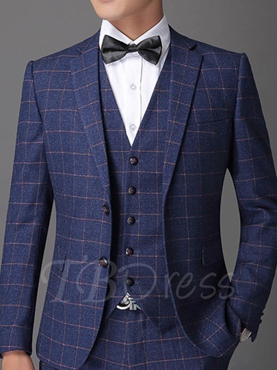 Men's Suit with Mini Check