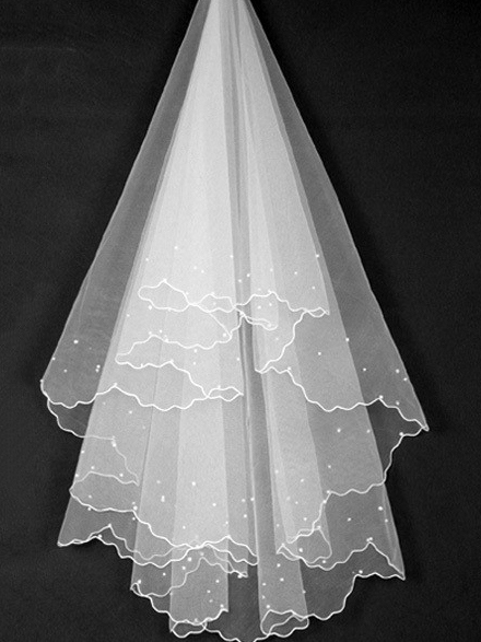 Wonderful Floral Edge Wedding Veil
