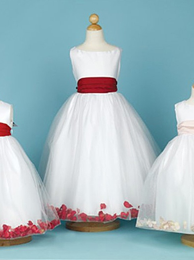 Ball Gown Ankle-length Bateau Appliques Flower Girl Dress