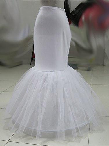 Fishtail Shaped Gauze Wedding Bridal Petticoat