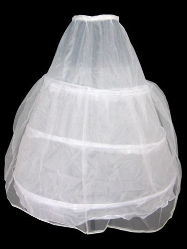 Double Organza Petticoat with Three Layers Steel Rings