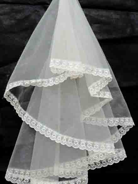 Lace Floral Edge Wedding Veil