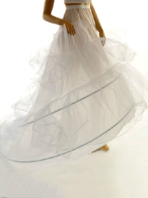 Long Tailing Double Steel Wires Gauze Wedding Petticoat