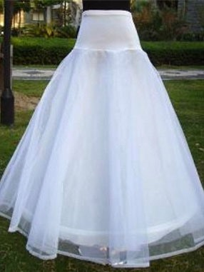 Floor-Length Single Steel Wire Gauze Wedding Petticoat