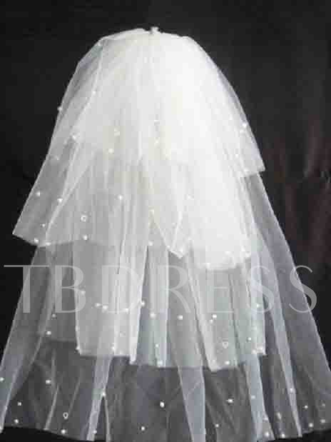 Four Layers Wedding Veil with Beads