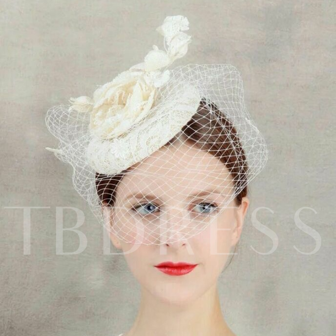 Bridal Face Veil Wedding Hair Flower