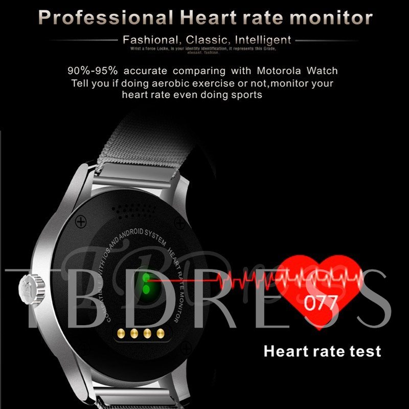 K88H IPS Bluetooth Smart Watch Activity Monitor Wearable Tech for iPhone Android