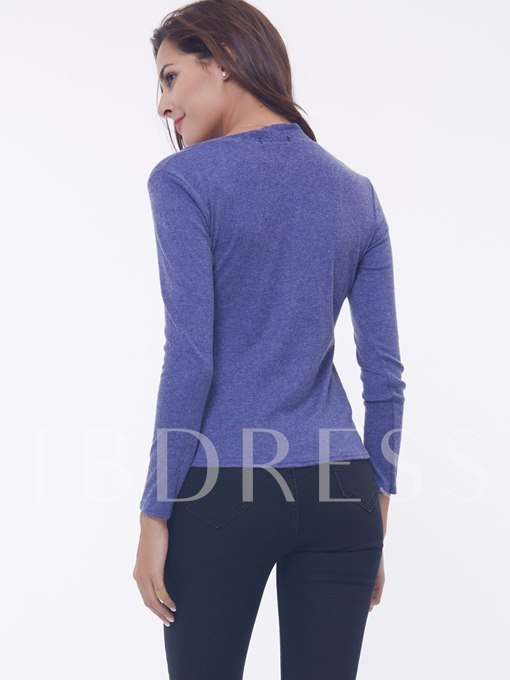 Plain Square Neck Women's Sweatshirt