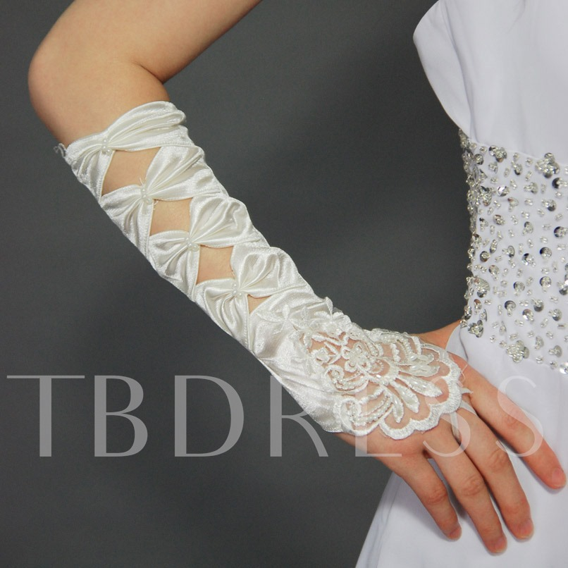 Wedding/ Special Occasion Bowknot Fingerless Gloves