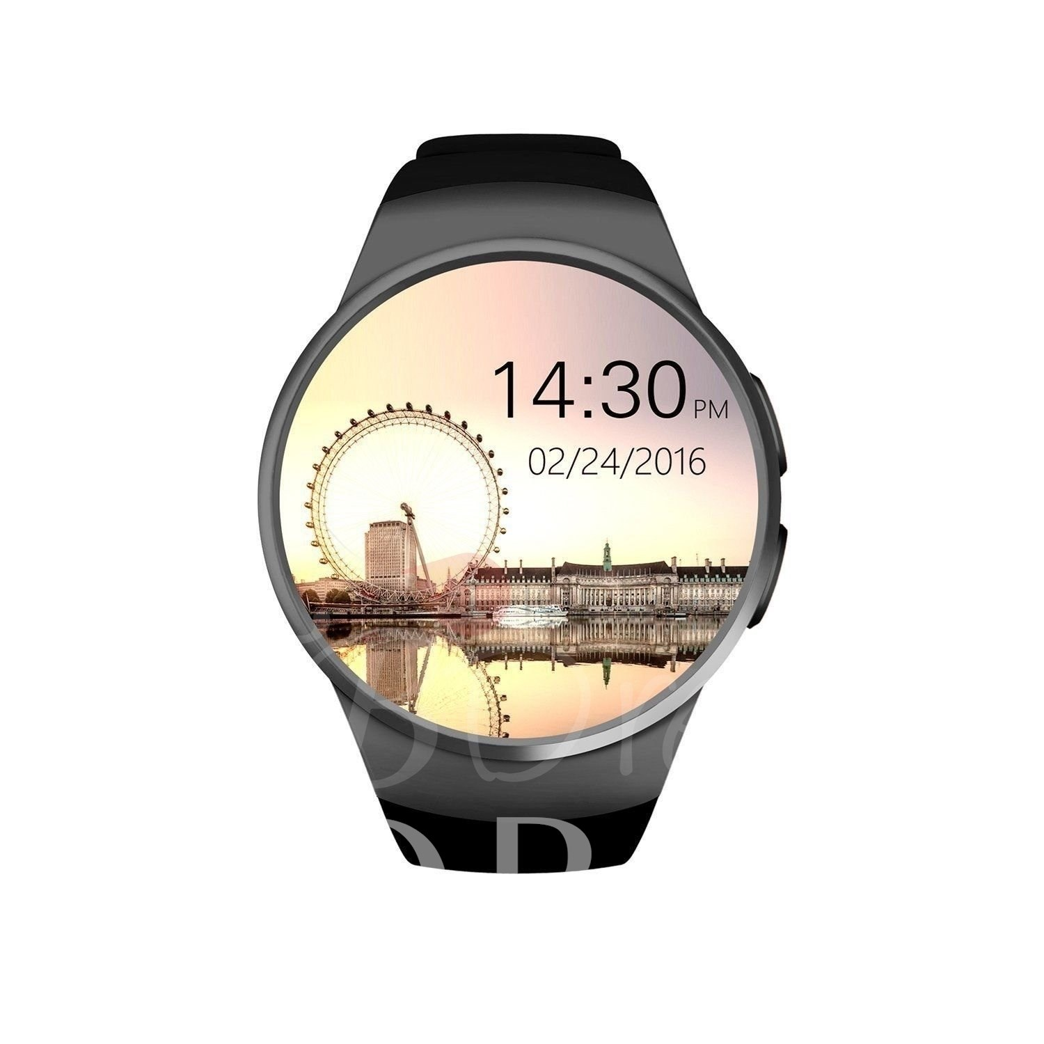 Kw18 bluetooth smart watch téléphone support tf & sim carte pour iphone android samsung sony xiaomi