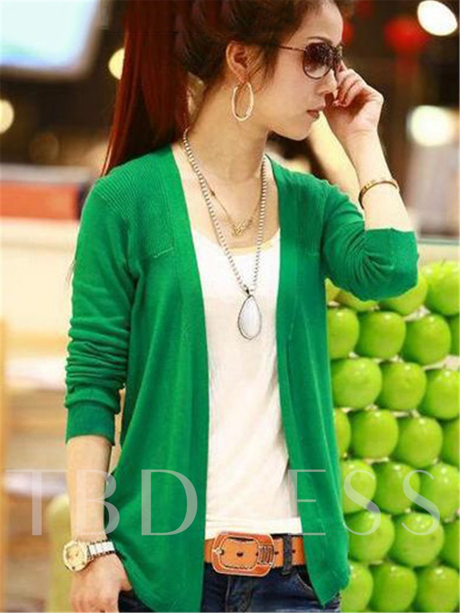 Image of Korean Style Long Sleeves Knit Asymmetrical Cardigan