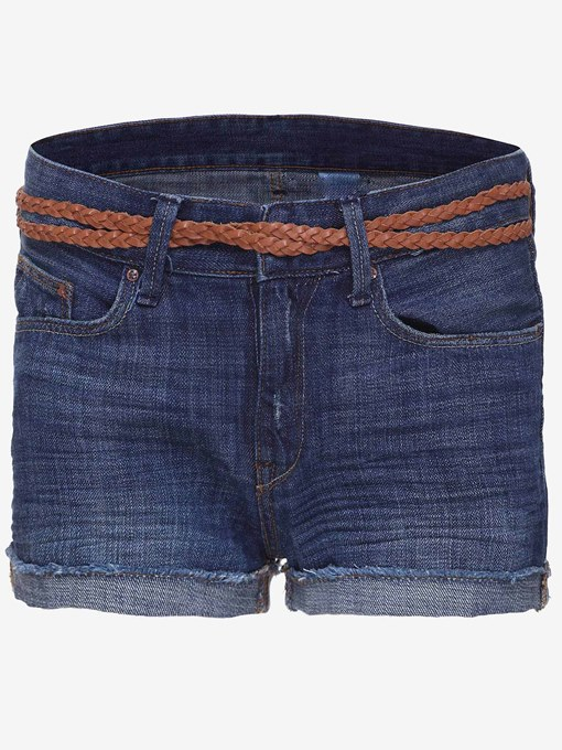 TBdress Design Denim Blue Jeans Shorts with Belt