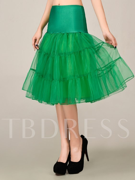 Pure Tiered Knee-Length Underskirt