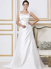 Appliques Beading Straps Sleeveless Wedding Dress