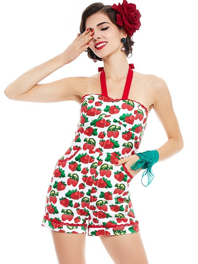 Strawberry Printed Cami Womens …