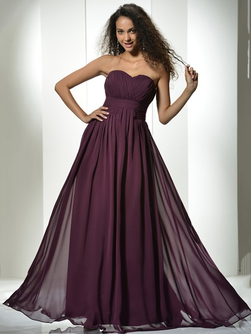 Pleats Empire Waist Bridesmaid Dress