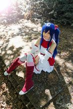 Fairy Tail Wendy Marvell Cosplay Dark Blue Long Wig