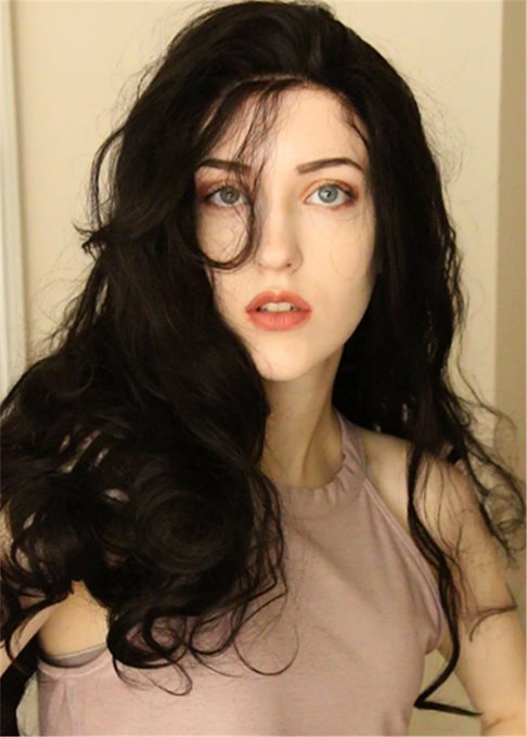 Long Wavy Hairstyle Synthetic Hair Lace Front Wig 24 Inches
