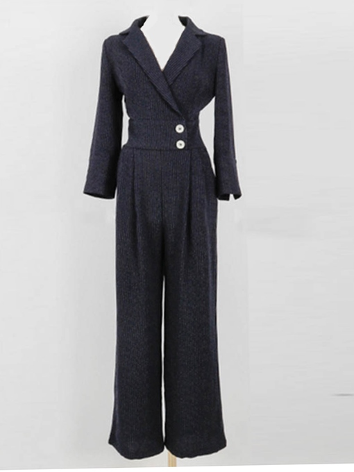 Stripe Ankle Length Fashion High-Waist Women's Jumpsuits