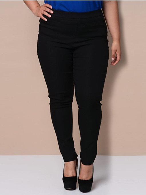 Plus Size Slim High-Waist Women's Casual Pants