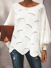 Loose Hollow Thick Batwing Sleeve Women's Sweater