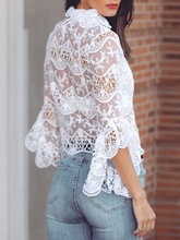 Lace Hollow See-Through Women's Blouse