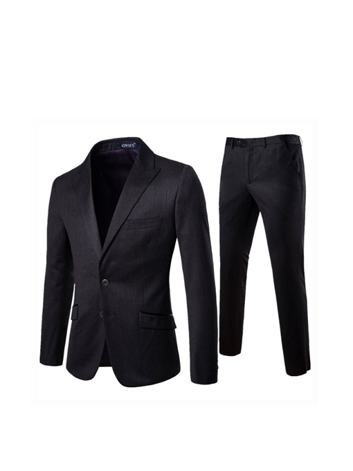 Formal Pants Single-Breasted Pocket Men's Dress Suit
