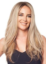 Fashion Women's Mid Length Straight Human Hair Wigs Lace Front Cap Wigs 22inch