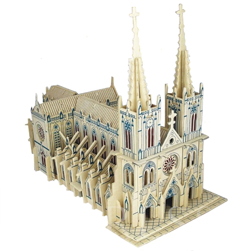 Architecture Wooden Universal 101-200 Three-Dimensional Puzzle