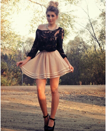 Fashion Outfits with Simply Lace Summer Skirt 1