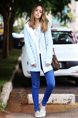 Hipster Style with TBdress Girls Fashion Blue Coat  1