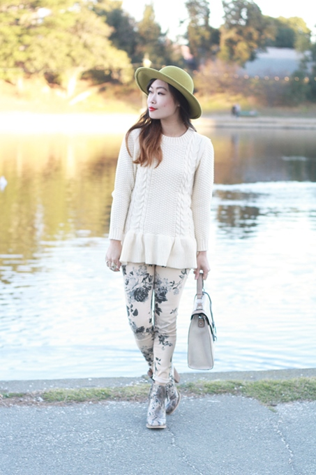 Lovely Cable Knit Peplum Sweater in Autumn 1